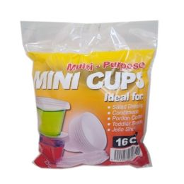 96 Units of 16CT MINI CONDIMENT CUPS - Disposable Cups