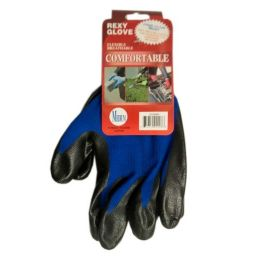 120 Units of Blue Poly W Blacknitrile Coat Gloves M - Working Gloves