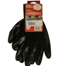 120 Units of Black Poly W Blacknitrile Coat Gloves L - Working Gloves
