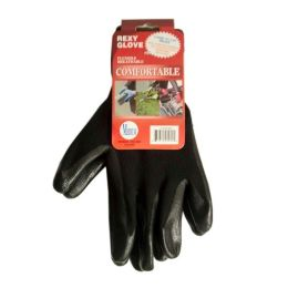 120 Units of Black Poly W Blacknitrile Coat Gloves M - Working Gloves