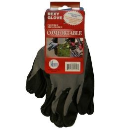 120 Units of GREY POLY W BLACKNITRILE COAT GLOVES M - Working Gloves