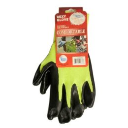 120 Units of GRAY POLY W BLACKNITRILE COAT GLOVES M - Working Gloves