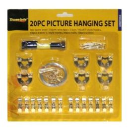96 Units of 20pc Picture Hanging Set - Wall Decor