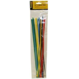 96 Units of 20PC 14 IN CABLE TIES ASSORTED COLORS - Wires