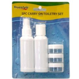 96 Units of 5PC CARRY ON TOILETRY SET - Travel/ Luggage Items
