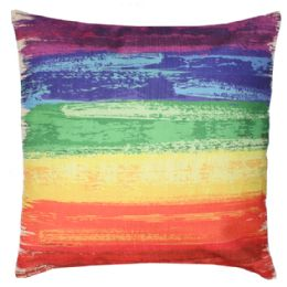 24 Units of HOME FASHION PILLOW RAINBOW STYLE - Pillows