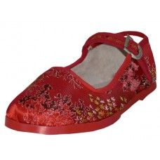 36 Units of Toddlers' Brocade Mary Janes ( Red Color Only) - Toddler Footwear