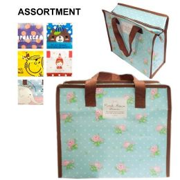 48 Units of Printed Zipper Bag 9.5x11x4..25in - Bags Of All Types