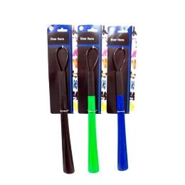 144 Units of Plastic Shoe Horn 47cm Asst Colors - Footwear Accessories