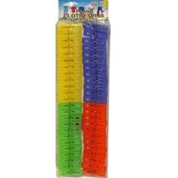 96 Units of 48PC PLASTIC CLOTHES PINS - Clothes Pins