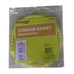 96 Units of 2-Level Storage Basket Dia 24cm - Home Accessories