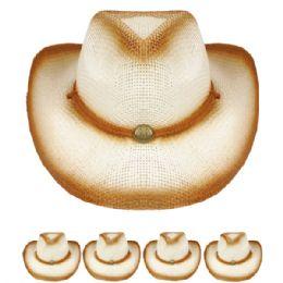 24 Units of Kids Western Cowboy Hat In Brown - Cowboy & Boonie Hat