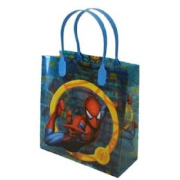 288 Units of Medium Spiderman Plastic Gift Bag - Bags Of All Types