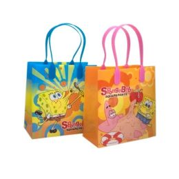 288 Units of Small Spongebob Plastic Gift Bag - Bags Of All Types