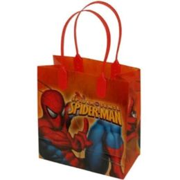 288 Units of Small Spiderman Plastic Gift Bag - Bags Of All Types