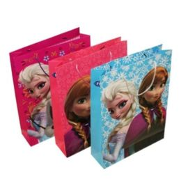 72 Units of Frozen Paper Gift Bag Large - Bags Of All Types