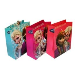 144 Units of Small Frozen Paper Gift Bag - Bags Of All Types
