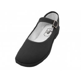 36 Units of Girls' Cotton Mary Jane Shoes (black Color Only) - Girls Shoes