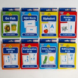 48 Units of Flash Cards School Zone 8 Assorted In Pdq - Educational Toys