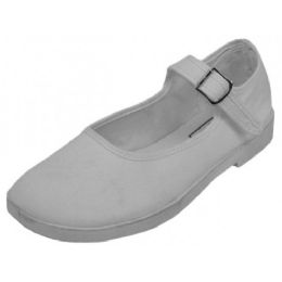 36 Units of Girls' Cotton Mary Jane SHOES (White Color Only)