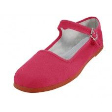 36 Units of Women's Classic Cotton Mary Jane Shoes (fuchsia Color Only) - Women's Flats