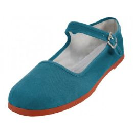 36 Units of Women's Canvas Classic Mary Janes (fanfare Color Only) - Women's Flats