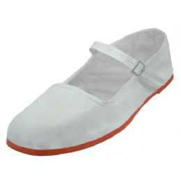 36 Units of Girl's Classic Cotton Mary Jane Shoes( White Color Only) - Girls Shoes