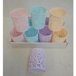 72 Units of Round Plastic Pencil Holder [roses] - Pencil Grippers / Toppers