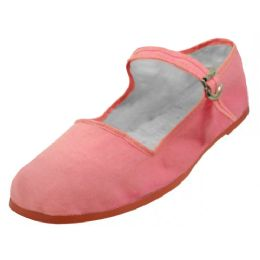 36 Units of Girl's Classic Cotton Mary Jane Shoes Pink Color Only - Girls Shoes
