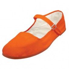 36 Units of Girl's Classic Cotton Mary Jane Shoes - Orange Color Only - Girls Shoes