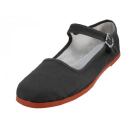 36 Units of Girl's Classic Cotton Mary Jane Shoes -Black Color Only - Girls Shoes