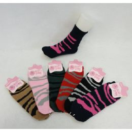 60 Units of Womens Animal Printed Super Soft Fuzzy Socks - Womens Fuzzy Socks