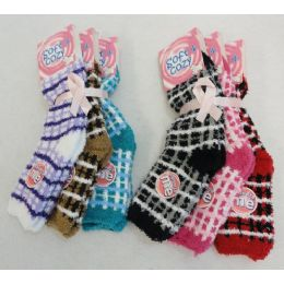 60 Units of Womens Super Soft Fuzzy Socks Size 9-11 - Womens Fuzzy Socks