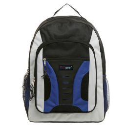 20 Units of 16.5 inch Mid-Size Cool Backpack For Kids, Bulk Case of Blue - Backpacks 16""