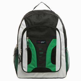 20 Units of 16.5 inch Mid-Size Cool Backpack For Kids, Bulk Case of Green - Backpacks 16""