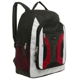 20 Units of MGgear 16.5 inch Mid-Size Cool Backpack For Kids, Bulk Case of Red - Backpacks 16""
