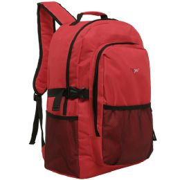 20 Units of MGgear 19 inch Oversized Wholesale College Backpacks, Red - Backpacks 16""