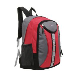 "20 Units of Mggear 18 Inch Designer Daisy Chain Style Wholesale Book Bags, Red - Backpacks 18"" or Larger"