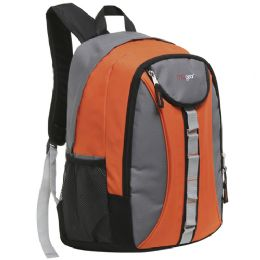 "20 Units of Mggear 18 Inch Designer Daisy Chain Style Wholesale Book Bags, Orange - Backpacks 18"" or Larger"