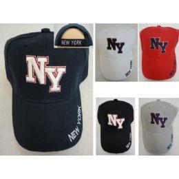 36 Units of Ny Hat [new York On Bill] - Baseball Caps & Snap Backs