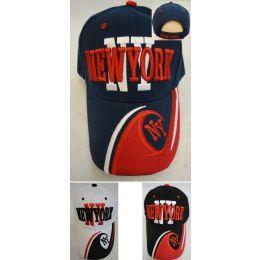 """36 Units of New York Hat """"ny"""" [ny/wave On Bill] - Baseball Caps & Snap Backs"""