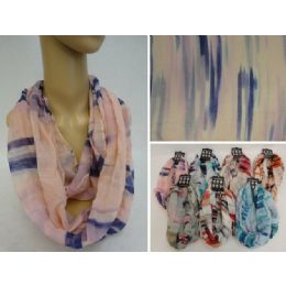 12 Units of Light Weight Infinity Scarf [Soft Color Fade] - Womens Fashion Scarves