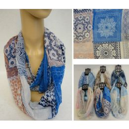 12 Units of Light Weight Infinity Scarf [Patchwork] - Womens Fashion Scarves