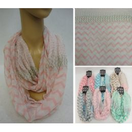 12 Units of Light Weight Infinity Scarf [Chevron & Polka Dots] - Womens Fashion Scarves
