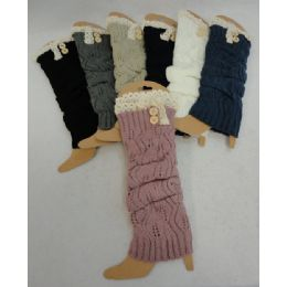 24 Units of Antique Lace Knitted Leg Warmers - Womens Leg Warmers