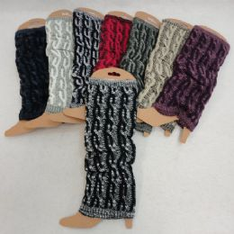 24 Units of Variegated Cable Knitted Leg Warmer - Womens Leg Warmers
