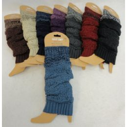 24 Units of Solid W Variegated Cuff Knitted Leg Warmer - Womens Leg Warmers