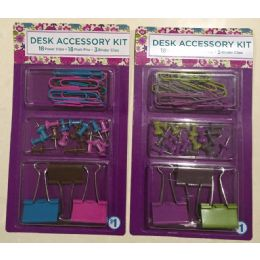 96 Units of Desk Accessory Kit - Clips and Fasteners