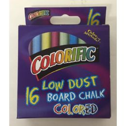 48 Units of 16 Low Dust Board Chalk Colored - Chalk,Chalkboards,Crayons