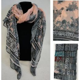 36 Units of Fashion Scarf [Victorian Floral] - Womens Fashion Scarves